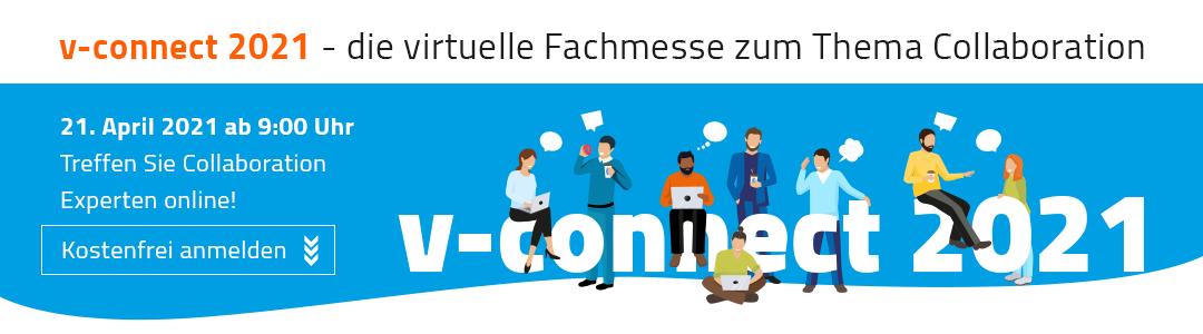 v-connect 2021 - Die virtuelle Fachmesse zum Thema Collaboration